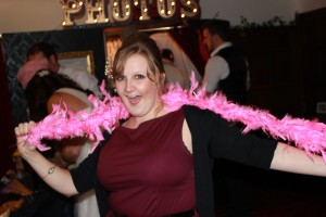 Nothing wrong with a feather boa, especially a bright pink one!