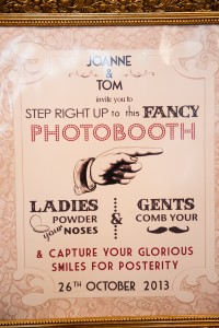 Our bespoke booth poster